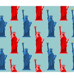Statue of liberty seamless pattern usa national vector