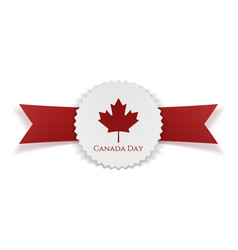 Canada day greeting realistic banner vector