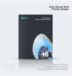 Abstract annual report business template vector
