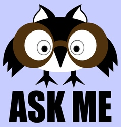 Ask me - info sign vector
