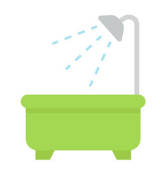 Bath flat icon furniture and interior vector