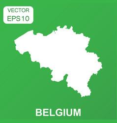 Belgium map icon business concept belgium vector