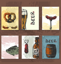 Craft beer cards vector