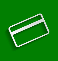 Credit card symbol for download paper vector
