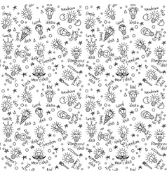Doodles creative ideas black and white lines vector image vector image