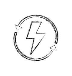 Figure energy hazard symbol with arrows around vector