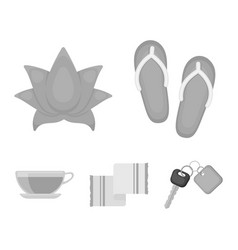 flip-flops for the pool lotus flower with petals vector image vector image