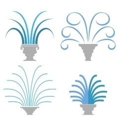 Fountain icon collection isolated vector