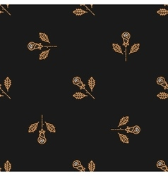 Golden rose seamless pattern Minimal design vector image