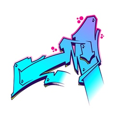 Graffiti letter m vector