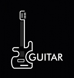 Guitar bass vector