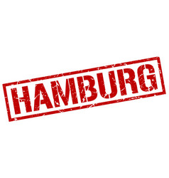 Hamburg red square stamp vector