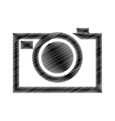 hand draw black photograpic camera vector image