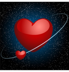 Hearts in space vector