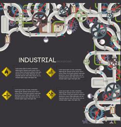 industrial pipeline background vector image vector image