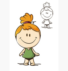 little funny girl vector image vector image