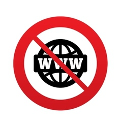 No www sign icon world wide web symbol vector