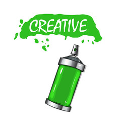 Paint cans with paint vector