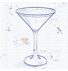 Porto flip cocktail on a notebook page vector
