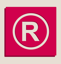 Registered trademark sign grayscale vector