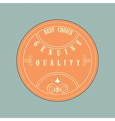 Retro style badge vintage style vector