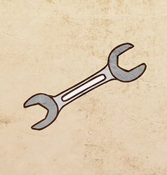 Screwdriver Cartoon vector image