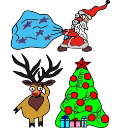 Set for Christmas and New Year vector image vector image