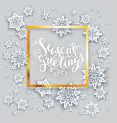 snow holiday card vector image vector image