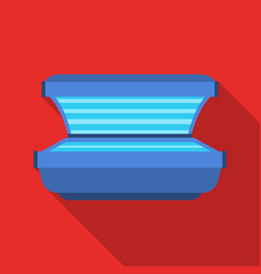 Tanning bed icon in flate style isolated on white vector
