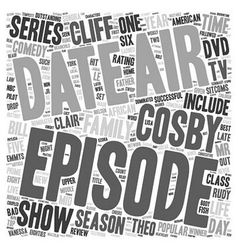 The cosby show dvd review text background vector