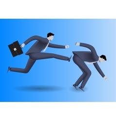 Tough competition business concept vector