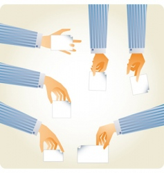 useful hands set vector image vector image