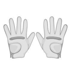 Golf gloves icon cartoon style vector