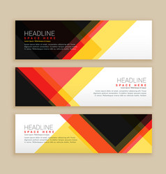 Abstract set of banners template vector