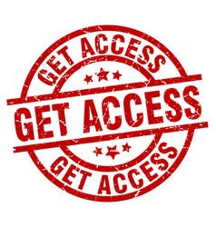 Get access round red grunge stamp vector