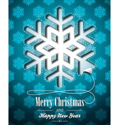 Christmas with snowflakes design vector image