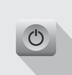 Computer desktop power icon vector