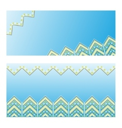 Set of ethnic ornament pattern vector