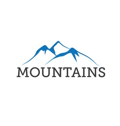 Abstract mountains design template vector
