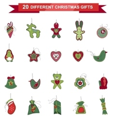 Set of different christmas decorations vector