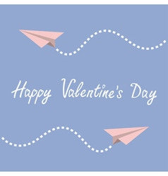 Happy valentines day love greeting card two vector