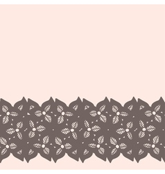 Decorative lacy border on beige background vector