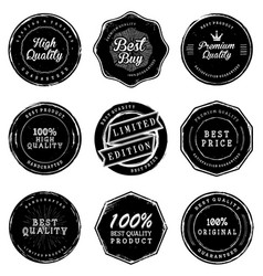 Old quality product labels vector