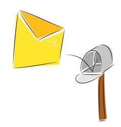 inbox vector image