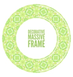 Colorful round ornamental frame vector image