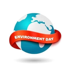 Environment day concept big earth globe with vector