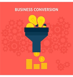 Business conversion flat concept vector