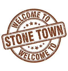 Welcome to stone town vector