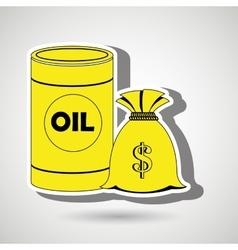 Oil and money isolated icon design vector
