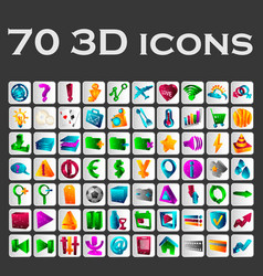 a set of colored icons vector image